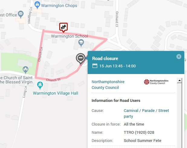 School road closure